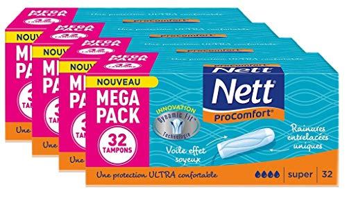 Nett Procomfort Tampon Digital Super Boite x 32 - Lot de 4