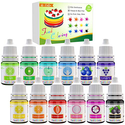 Liquid Concentrated Food Color - .25 fl. oz. (12 pack)