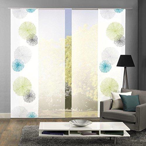 Home Fashion Set-Angebot Schiebegardinen Rawlins (SCOPPIO), Set-Größen, inkl. hochwertigem Zubehör (4, grün, 94999)