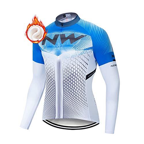 Ropa de Ciclismo de Invierno para Hombre, Maillot de Invierno de Ciclismo...