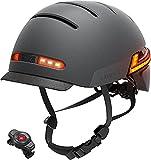 LIVALL Smart Helm, Fahrradhelm mit LED-Frontleuchten und Bremswarnleuchten, eingebaute...