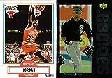 Michael Jordan Lot of 2 Trading Cards: 1990-91 Fleer Basketball Card and 1994 Upper Deck Baseball Rookie Card