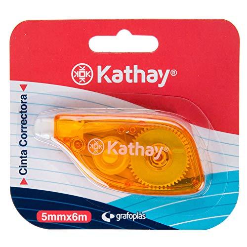 Kathay 86028599 Korrekturband, 5 mm x 6 m, zufällige Farben: Grün und Gelb, hohe Haftung und Sicherheit