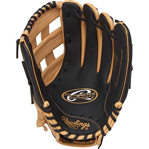 Rawlings Unisex-Erwachsene PL115BC-12/0 Baseball-/Softball-Handschuhe, Camel/Black, 11.5 inch