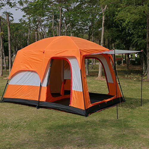 PPTS Two-bedroom and one-living room camping tent for 6-8 people and 8-12 people
