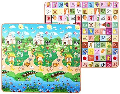 Comfortabel De ZHUYUE Washable speeltuin for de kinderen mat Kids Baby Peuter Play Mat Extra Large Foam speelmat Crawl Mat omkeerbare Waterproof Portable Dubbelzijdig baby non-slip kruipen mat