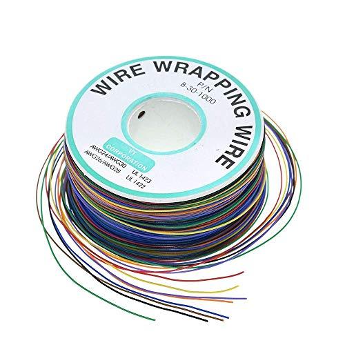 LKK-KK 265m 8 Farbe 30AWG Jump Wire Wrapping Kupfer verzinnt Feste PVC-Isolierung einzelner Strang Kupferkabel Ok Draht Elektrische Draht XF30