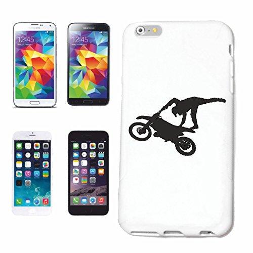 Reifen-Markt Funda para teléfono móvil compatible con Samsung Galaxy S7, silueta de motocross, 125 cm³, motocross, freestyle, motocross, moto, bicicleta, M