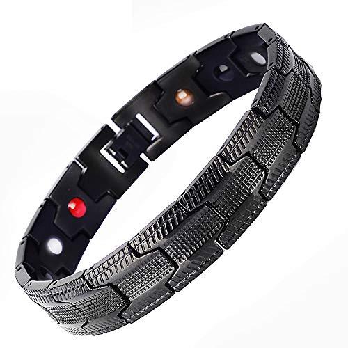 SZBGR Titan Magnetarmband Anti Schnarch Herren Schmerzlinderung Für Arthritis Mit Entfernen Werkzeug