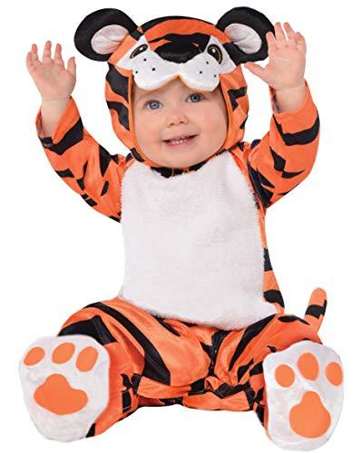 amscan 10132320 Petit costume avec capuche Tête de tigre 12 à 24 mois Multicolore