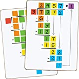 """Really Good Stuff Beginning Long Division Dry Erase Boards, 6"""" by 8"""" (Set of 6) – Helps Students Gain Long Division Skills – Two-Sided, Non-Magnetic"""
