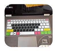 for Lenovoヨガ530 530s 530 14ikbヨガ730730s 530のシリコーンラップトップキーボードカバープロテクター-candyblack-