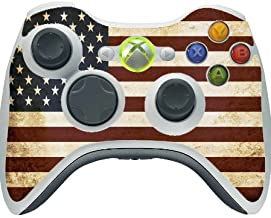American Flag Vintage Grunge Vinyl Decal Sticker Skin by Moonlight Printing for Xbox 360 Wireless Controller