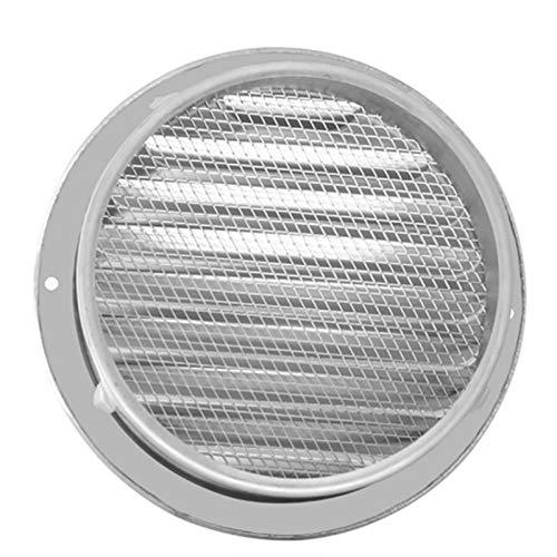 SZBLYY Rejilla ventilacion Pared Exterior de Acero Inoxidable Pared de ventilación de Aire Redondeo Conducción de ventilación Parrillas de Malla Persianas de Pared, baño, Parrilla de gabinete