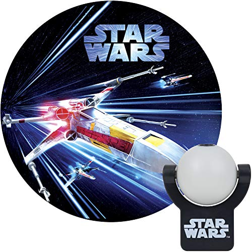 Projectables Star Wars LED Night Light Projector, X-Wing, Plug-in, Dusk-to-Dawn, Collector's Edition, Image on Ceiling, Wall, or Floor, Ideal for Bedroom, Nursery, 43644