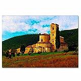 Italia Toscana Abadía de Prato Rompecabezas para Adultos, 300 Piezas, Rompecabezas de Madera para niños, Regalo de Viaje, Recuerdo, 16.5 × 12 Pulgadas