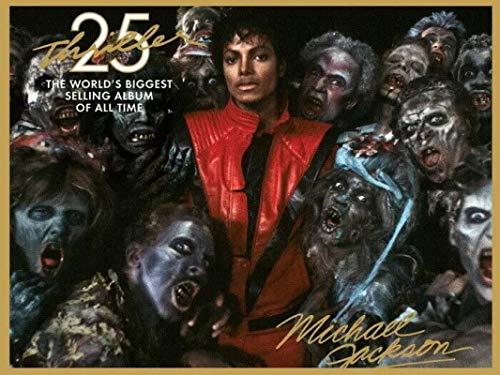 Tela De Lienzo 50x70cm Sin Marco Michael Jackson Thriller Zombies Gigantic Art Film Print Póster de seda Decoración de la pared del hogar