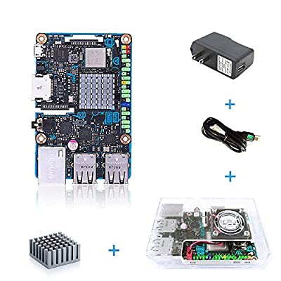 ASUS SBC Tinker Board S RK3288 SoC 1.8GHz Quad Core CPU, 600MHz Mali-T764 GPU, 2GB LPDDR3 & 16GB eMMC Motherboard with Case