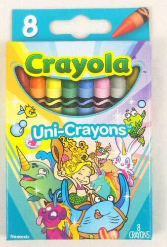 Crayola Uni-Crayons 8 Count Flip Top Box Unicorn Colors