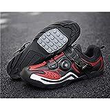FACAI Zapatillas De Ciclismo De Montaña para Hombre Zapatillas De Ciclismo Zapatillas De Ciclismo De Montaña MTB Zapatillas De Bicicleta Zapatillas De Triatlón,Red-46
