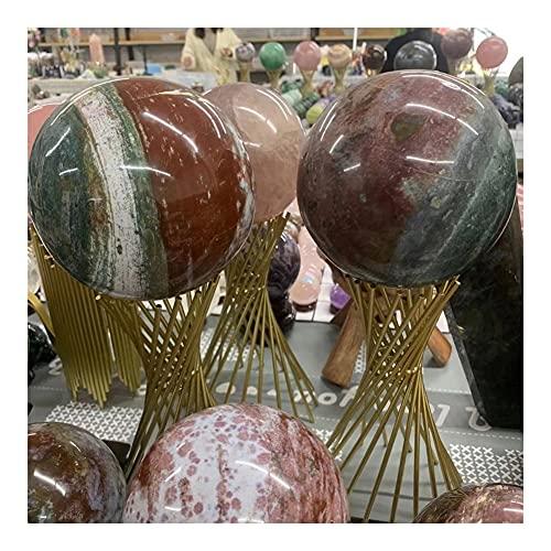 KAUG Cristal Afortunado Bola de Esfera de Cristal de Cuarzo Natural de Musgo Natural para Curar la decoración del Chakra (Size : 8-9cm)