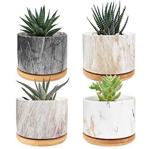 Mini vasi in cemento per piante grasse o cactus, stile moderno, per giardino, balcone, ufficio, compleanno