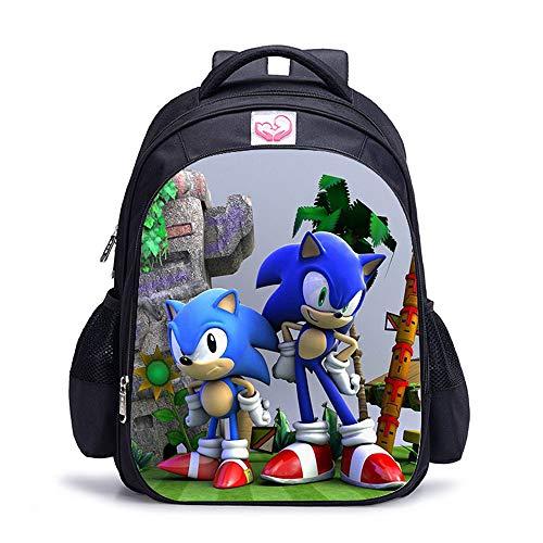 Sonic The Hedgehog Mochila para niños, niñas adolescentes con impresión 3D grande mochila de viaje para hombres y mujeres Anime Laptop Mochilas Libro Bolsas Adulto Bolsa de hombro Daypacks Merchandise