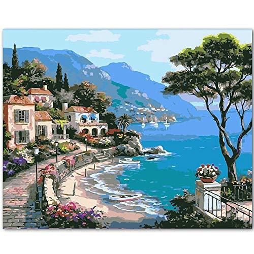 Umarmen Sie sich gegenseitig Diy Gemälde nach Zahlen Wandkunst Bild Acryl Leinwand Gemälde für Wohnkultur 60x75cm