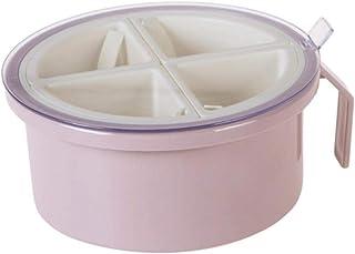 WZHZJ Round 4 Grille Assaisonnement Boîte Condiments épices boîte de Rangement sel Poivre Organisateur Accueil Outil de Cu...