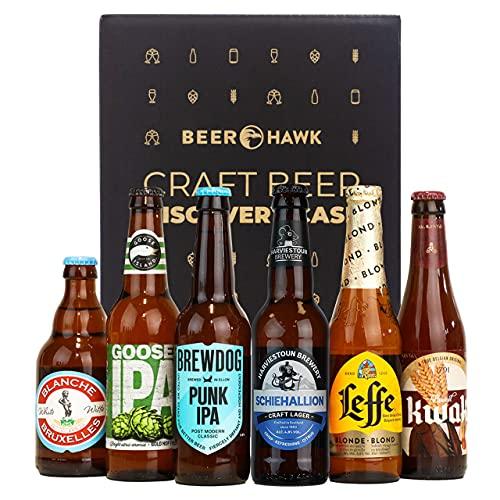 Beer Hawk Craft Beer Favourites Selection – 6 Beer Mixed Case Hamper Gift Set