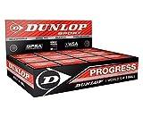 Pelotas Squash DUNLOP Paquetes de 3, 6 y 12 Amarillas 1 o 2 puntos rojos y azules - 12 unidades, punto rojo
