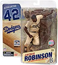 McFarlane Toys MLB Cooperstown Collection Series 3 Action Figure Jackie Robinson (Brooklyn Dodgers) Sepia Color Uniform Variant