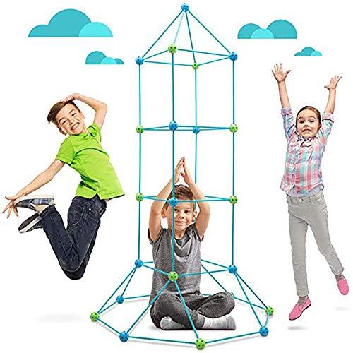 freneci 2 Set Kids DIY Fort Building Kit Construcción Niños Tiendas de Campaña Playhouse Toy