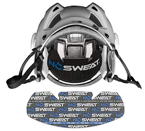No Sweat Hockey Helmet Liner - Moisture Wicking Sweatband Absorbs Dripping Sweat   Helps Prevent Acne, Reduces Fogging/Anti-Fog… (6pk)