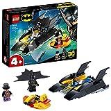 LEGO 76158 Super Heroes ¡Caza del Pingüino en la Batlancha! Juguete de Construcción