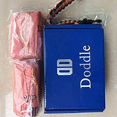 Doddle Bivy (2 Pack) Emergency Sleeping Bag Thermal and Survival Gear-Use as Emergency Bivy Sack,Survival Sleeping Bag, Includes Stuff Sack with Survival Paracord Bracelet