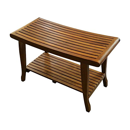 ALATEAK Indoor Outdoor Patio Garden Yard Bath Shower Spa Waterproof Stool Bench 30""