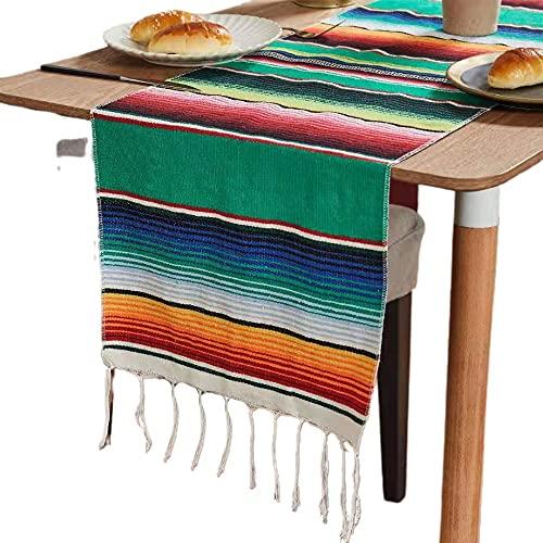 Regenbogen Stranddecke Outdoor Plaid Stripe Mexikanische Matte Quaste Picknick Tischläufer Tuch für Betten Reise Picknick Camping Sofa