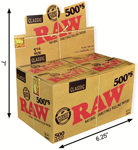 RAW 500 klassisch Natur unraffiniertes Rollen Papier 1 1/4 79mm größe (20)