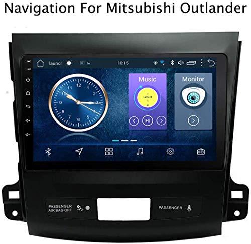 QXHELI Doppel Din 9-Zoll-Touch Screen Android 8.1 Autoradio-Stereo Für Mitsubishi Outlander 2006-2012 Car Video 2 DIN GPS-Satellitennavigations DAB USB SWC Mirrorlink