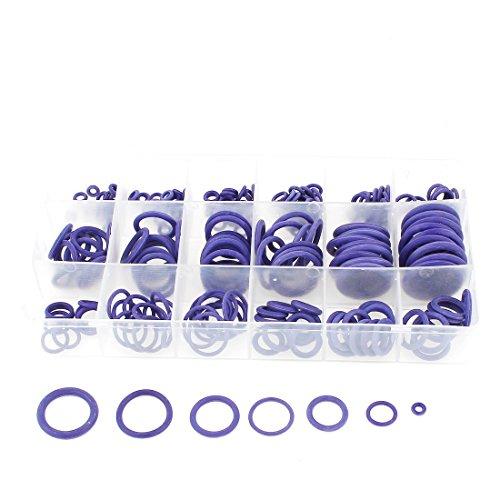 238 Pcs 18 Tamaños junta tórica del sello de aceite Anillo de obturación Juntas púrpura