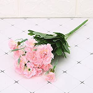 cici store Artificial Silk Fake Carnations 10 Heads Flowers – Wedding Party Home Decoration Photography Props