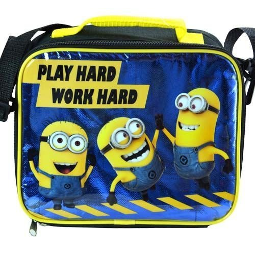 Despicable Me Minions Lunch Box - Play Hard Work Hard by Accessory Innovations
