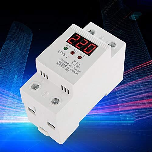SHIJING Spannungsüberwachungsrelais 230 V AC Automatische Wiedereinschaltung Spannungsschutz Unterspannungsrelais 2P / 32A Digitales Spannungsrelais