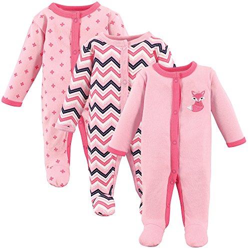 Luvable Friends Baby Cotton Preemie Sleep and Play, Foxy