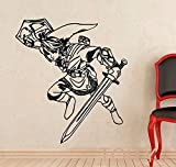 zzlfn3lv Enlace de la Etiqueta de la Pared Princesa Legend of Zelda Vinilo Etiqueta Videojuego Art Decor Teen Room Dorm Studio Club Mural 65 * 58 cm