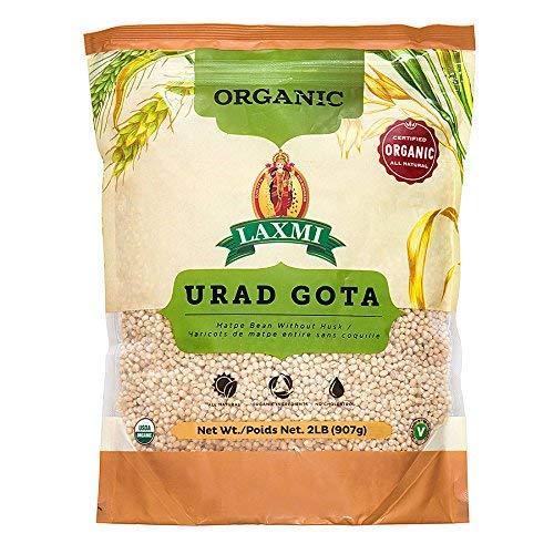 Laxmi Organic Urad Gota (Black Lentils or Whole Matpe Beans) - Traditional Indian Foods - 2lbs