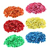 Gazechimp 6-Color 600PCS Small Pre Numbered Livestock Ear Tags for Pig Cow Goat Sheep