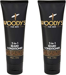 Woody's 2-in-1 Beard Conditioner for Men, Face Moisturizer & Beard Conditioner, 4 oz, 2-Pack