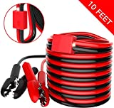 Booster Cable - YANTU 10 Feet 4 Gauge1200 A Heavy Duty Jumper Cables with Overvoltage Protector and...